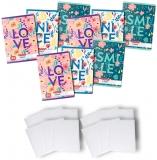 Pachet 10 caiete + coperti A5, 48 file, matematica, Feelings Herlitz