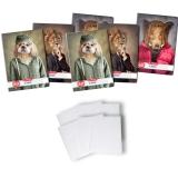 Pachet 5 caiete + coperti A4, 60 file, dictando, Hipster Animals Herlitz