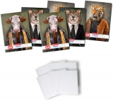 Pachet 5 caiete + coperti A4, 60 file, matematica, Hipster Animals Herlitz