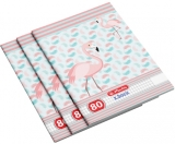 Set 5 caiete A4, 80 file, 70g/mp, matematica, Flamingo Herlitz