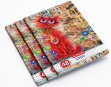 Caiet A5, 48 file, 70g/mp, matematica, Crazy Cats, 10 buc/set Herlitz