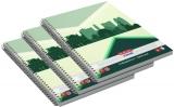 Caiet cu spira A5, 70 file, matematica, Economic, 5 buc/set Herlitz