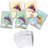 Pachet 5 caiete + coperti A4, 60 file, dictando, Travel Herlitz