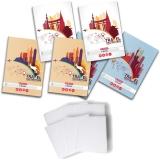 Pachet 5 caiete + coperti A4, 60 file, matematica, Travel Herlitz