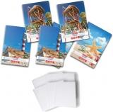 Pachet 5 caiete + coperti A4, 80 file, matematica, Summer Herlitz