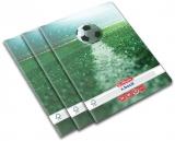 Caiet A4, 80 file, 70g/mp, matematica, colturi rotunjite, Fotbal, 5 buc/set Herlitz