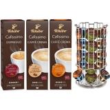 Pachet capsule cafea Tchibo Cafissimo Basic Pack 3 cutii/set + suport capsule