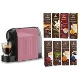 Espressor Tchibo Cafissimo Easy Rose + Set capsule cafea Tchibo Cafissimo Starter Pack Max 8 cutii/set