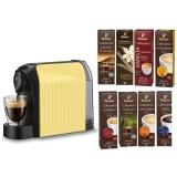 Espressor Tchibo Cafissimo Easy Vanilla + Set capsule cafea Tchibo Cafissimo Starter Pack Max 8 cutii/set