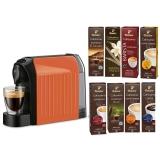 Espressor Tchibo Cafissimo Easy Curcuma + Set capsule cafea Tchibo Cafissimo Starter Pack Max 8 cutii/set