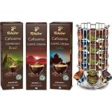 Pachet capsule cafea Tchibo Cafissimo Premium Exotic Pack 3 cutii/set + suport capsule