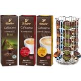 Pachet capsule cafea Tchibo Cafissimo Premium Pack 3 cutii/set + suport capsule