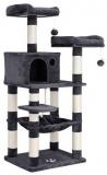 Copac pentru pisici cu hamac de 143 cm gri Feandrea