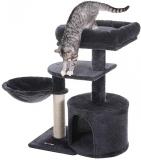 Copac de pisica mic, multi-nivel, 68 cm, gri fum Feandrea