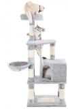 Pom de pisica cu turn inalt de 148 cm gri Feandrea