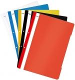 Dosar plastic A4 cu sina si perforatii, diverse culori, 25 buc/set Noki