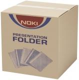 Dosar A4 din plastic cu sina si perforatii, 400 buc/cutie Noki