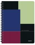 Caiet de birou Executiv Get Organized, PP, A4 cu spira, matematica, negru-violet, Leitz