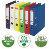Biblioraft No 1, carton 100% reciclat si amprenta CO2 neutra, A4, 50 mm, Esselte