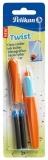 Roller Twist portocaliu-albastru Pelikan