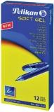 Pix cu gel Softgel albastru, 12 buc/cutie Pelikan