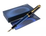 Stilou Souveran M400 Pelikan F negru-albastru