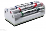 Marker tabla Maxiflo, varf rotund 4 mm 4 buc/set + burete magnetic Pentel