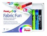 Creioane cerate Fabric Fun Pastel 7 culori Pentel