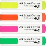 Marker textil Neon, varf tesit, 1-5 mm Faber-Castell
