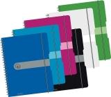 Caiet de birou A4, 80 file, aritmetica, coperta PP cu elastic Easy Orga To Go Herlitz
