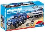 Camion De Politie Cu Barca Playmobil
