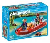 Barca gonflabila cu cercetatori Wild Life Playmobil