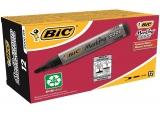 Cutie marker permanent 12 bucati negru 2000 Bic