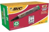 Cutie marker permanent 12 bucati verde 2000 Bic