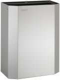 Cos de interior rectangular, inox satinat, capacitate 25 litri, montare pe perete, Mediclinics