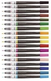Pensula cu cerneala Color Brush Pen, 18 culori/set, Pentel