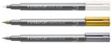 Marker caligrafic 8321 Metallic, varf tip pensula, 1 - 6 mm Staedtler