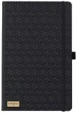 Caiet cu elastic Black Gold 13 x 21 cm, Honeycomb black, dictando Castelli