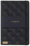 Caiet cu elastic Black Gold 13 x 21 cm, Art Deco Black, dictando Castelli
