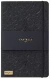 Caiet cu elastic Black Gold 13 x 21 cm, Baroque Black, dictando Castelli