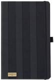 Caiet cu elastic Black and Gold 13 x 21 cm, Stripes negru, dictando Castelli