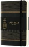 Caiet cu elastic Tatami 9 x 14 cm, Dark Espresso, patratele Castelli