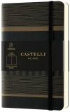 Caiet cu elastic Tatami 9 x 14 cm, Dark Espresso, velin Castelli