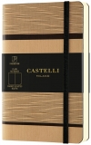 Caiet cu elastic Tatami 9 x 14 cm, Beige Cappucino, velin Castelli