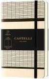 Caiet cu elastic Tatami 9 x 14 cm, White Milk, velin Castelli