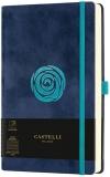 Caiet cu elastic Velluto 13 x 21 cm, Rose, dictando Castelli