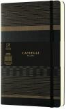 Caiet cu elastic Tatami 13 x 21 cm, Dark Espresso, patratele Castelli