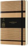 Caiet cu elastic Tatami 13 x 21 cm, Beige Cappucino, patratele Castelli