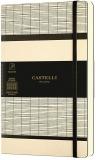 Caiet cu elastic Tatami 13 x 21 cm, White Milk, patratele Castelli
