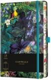 Caiet cu elastic Eden 13 x 21 cm, Lily, velin Castelli